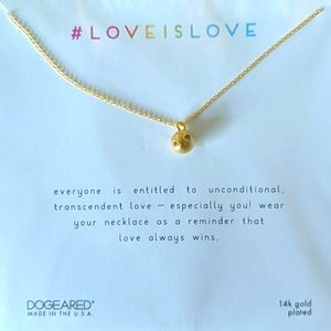 DOGEARED Love Is Love Gold Plated Crystal Necklace